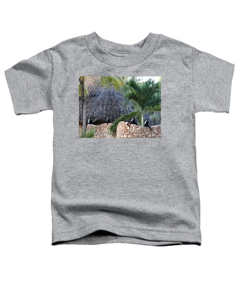 Colobus Monkey Resting On A Wall Toddler T-Shirt