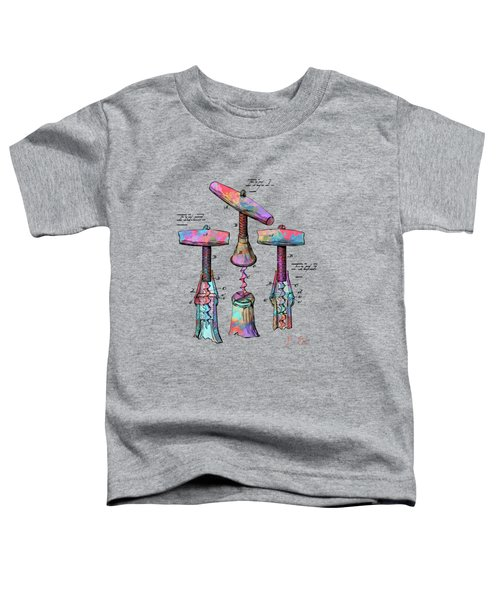 Colorful 1883 Wine Corckscrew Patent Toddler T-Shirt