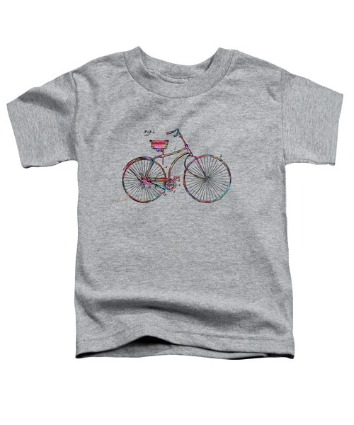 Colorful 1890 Bicycle Patent Minimal Toddler T-Shirt