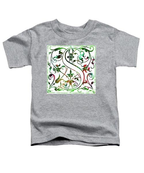 Colorful Ancient Alphabet Letter S Toddler T-Shirt