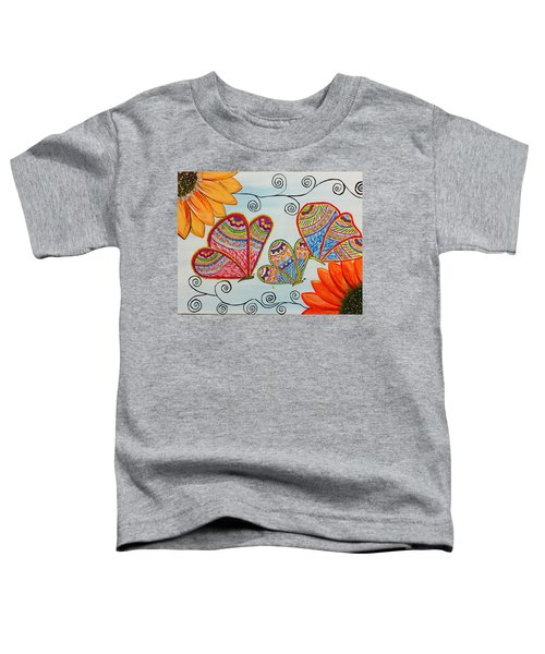 Colorful Butterfly In Madhubani Art Toddler T-Shirt