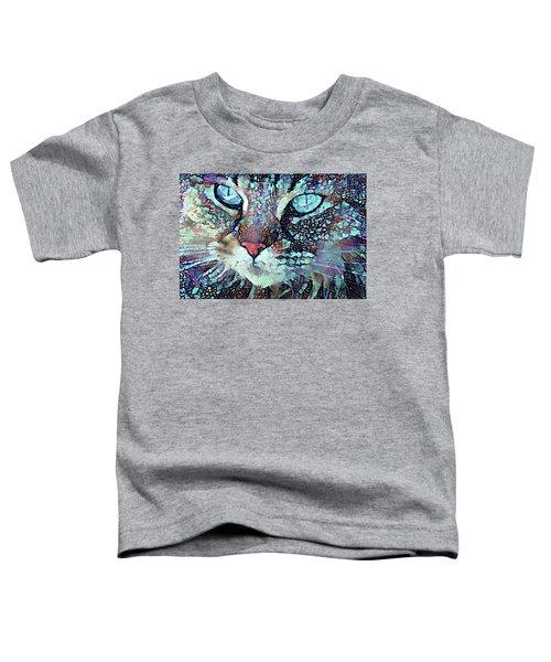Colorful Flower Cat Art - A Cat Called Blue Toddler T-Shirt