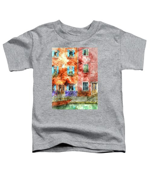 Colorful Houses In Burano Island, Venice Toddler T-Shirt