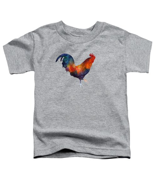 Colorful Rooster Toddler T-Shirt