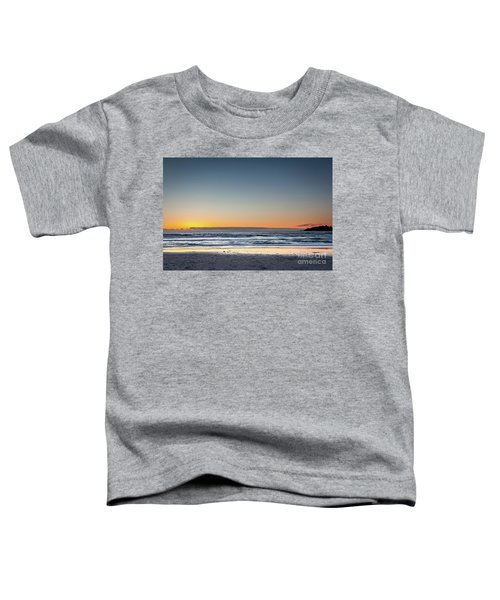 Colorful Sunset Over A Desserted Beach Toddler T-Shirt