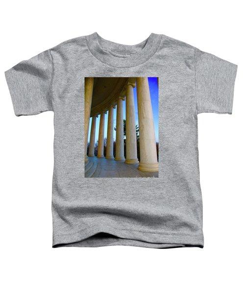 Columns At Jefferson Toddler T-Shirt by Megan Cohen