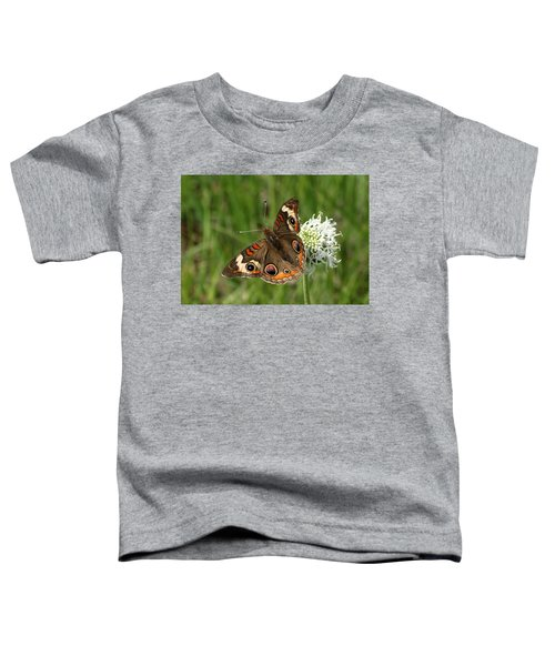 Common Buckeye Butterfly On Wildflower Toddler T-Shirt