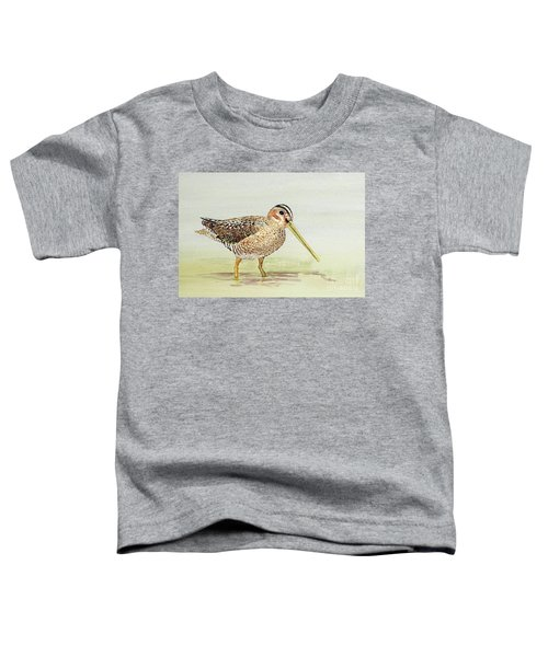 Common Snipe Wading Toddler T-Shirt