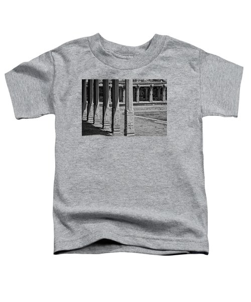 Toddler T-Shirt featuring the photograph Composition Of Pillars, Hampi, 2017 by Hitendra SINKAR