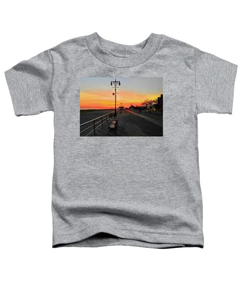 Coney Island Boardwalk Sunset Toddler T-Shirt