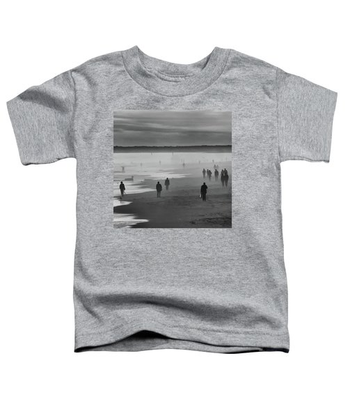 Toddler T-Shirt featuring the photograph Coney Island Walkers by Eric Lake