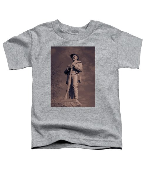 Confederate Statue  Standing Guard Toddler T-Shirt