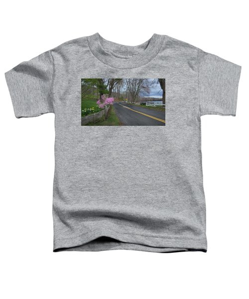 Toddler T-Shirt featuring the photograph Connecticut Country Road by Bill Wakeley
