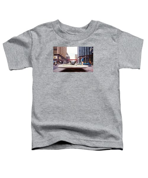 Contemplating The Fountain At 8th And Nicollet. Toddler T-Shirt