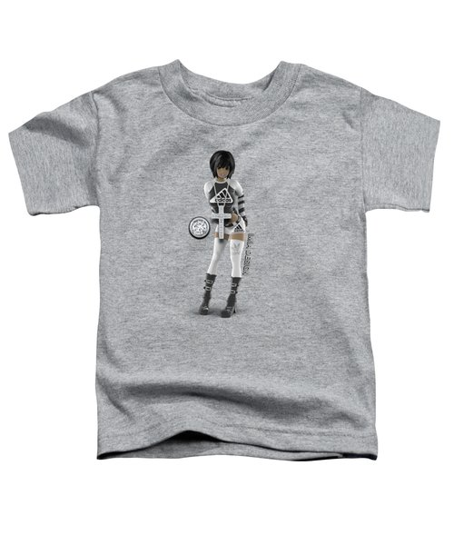 Cool 3d Girl In Black And White Toddler T-Shirt