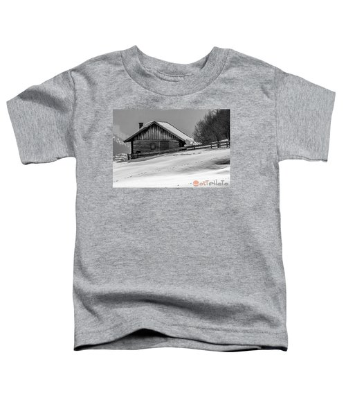 Cottage In Winter Toddler T-Shirt