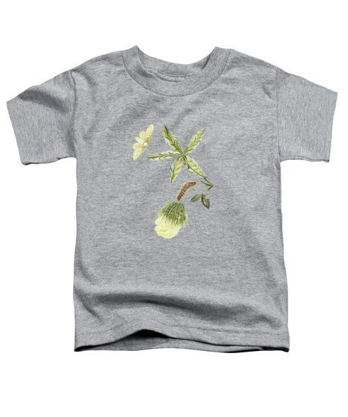 Cotton Plant With Flower Caterpillar And Butterfly By Cornelis Markee 1763 Toddler T-Shirt