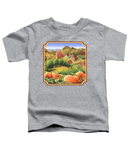 Country Landscape - Appalachian Pumpkin Patch - Country Farm Life - Square Format Toddler T-Shirt