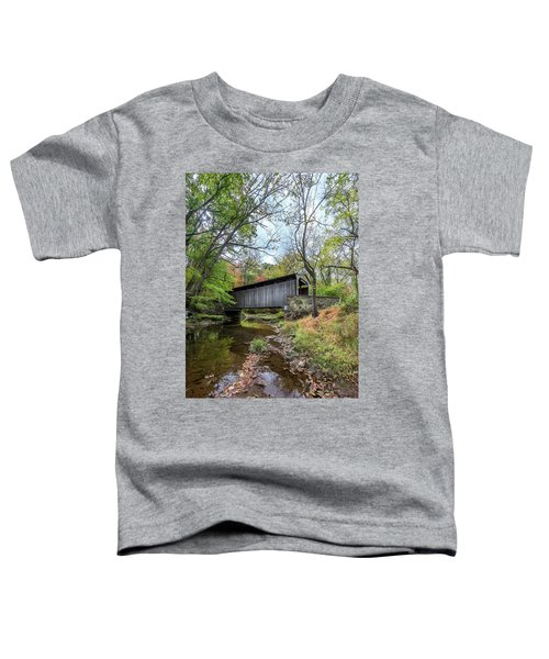 Covered Bridge In Pennsylvania During Autumn Toddler T-Shirt