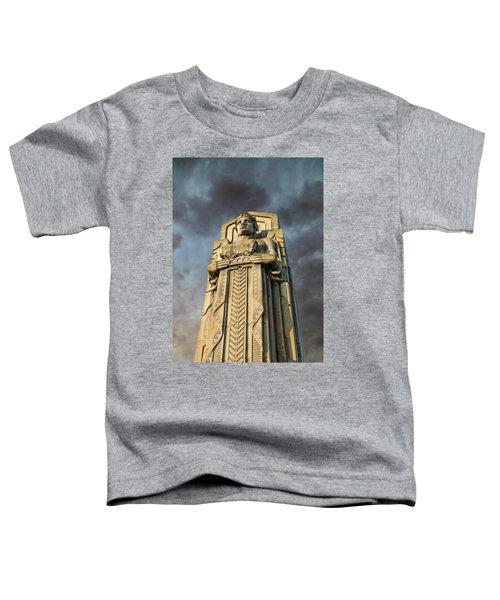 Covered Wagon Guardian On Hope Memorial Bridge Toddler T-Shirt