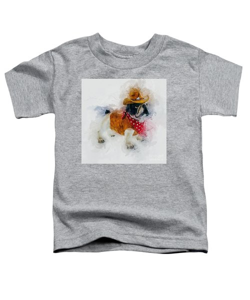 Cowboy Bulldog Toddler T-Shirt
