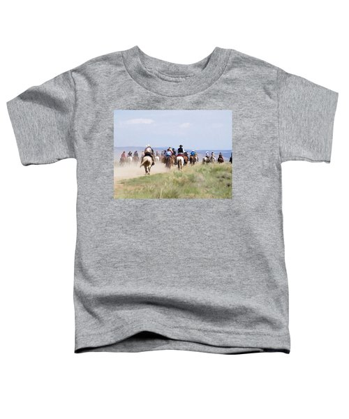 Cowboys And Cowgirls Riding Horses At The Sombrero Horse Drive Toddler T-Shirt