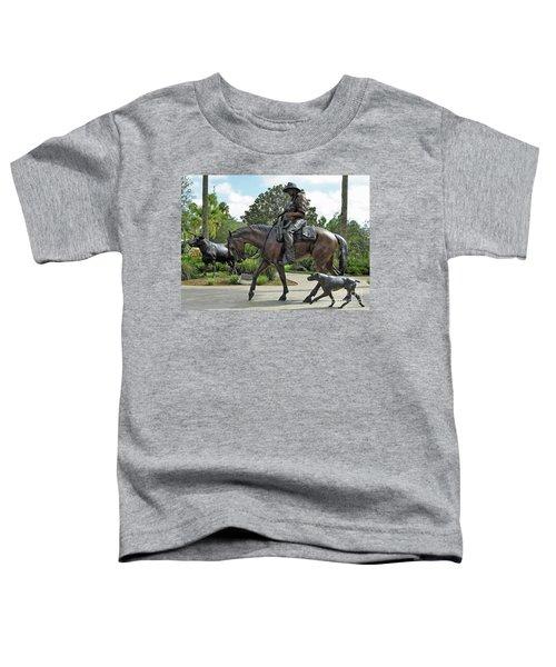 Cracker Cowboy And His Dog Toddler T-Shirt