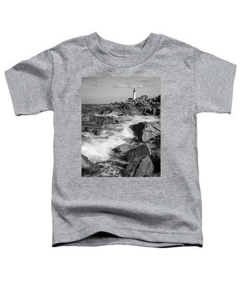 Crashing Waves, Portland Head Light, Cape Elizabeth, Maine  -5605 Toddler T-Shirt