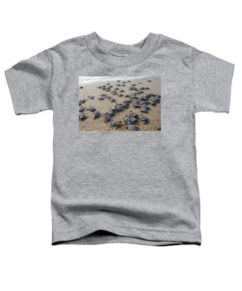 Crawl To The Ocean Toddler T-Shirt