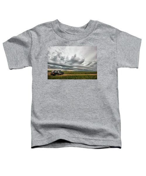 Crazy Shelf Cloud Near Ponteix Sk. Toddler T-Shirt