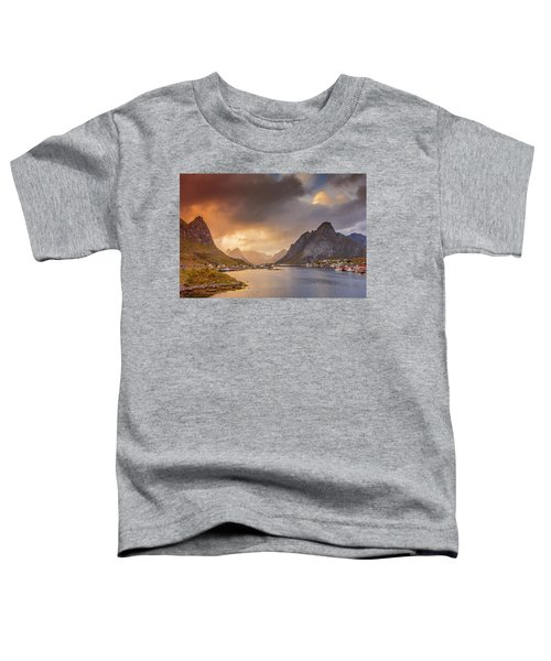 Crazy Sunset In Lofoten Toddler T-Shirt
