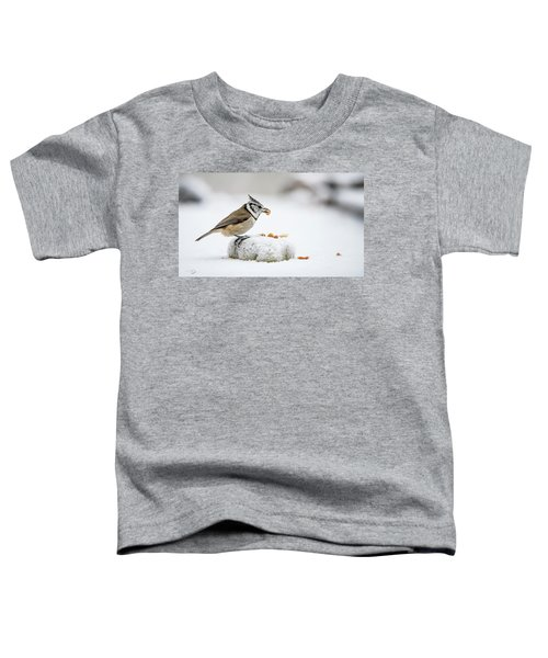 Crested Tit's Catch A Peanut Toddler T-Shirt