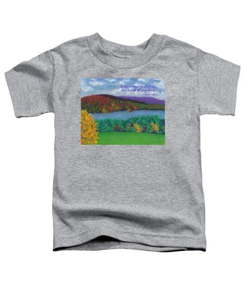 Crisp Kripalu Morning - With Quote Toddler T-Shirt