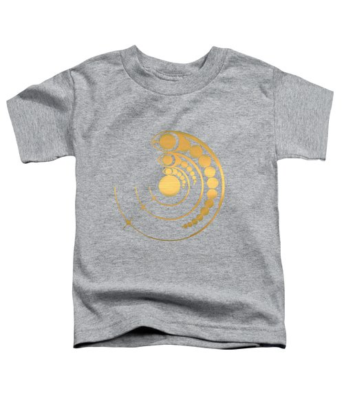 Crop Circle Formation Near Avebury Stone Circle In Wiltshire England In Gold Toddler T-Shirt