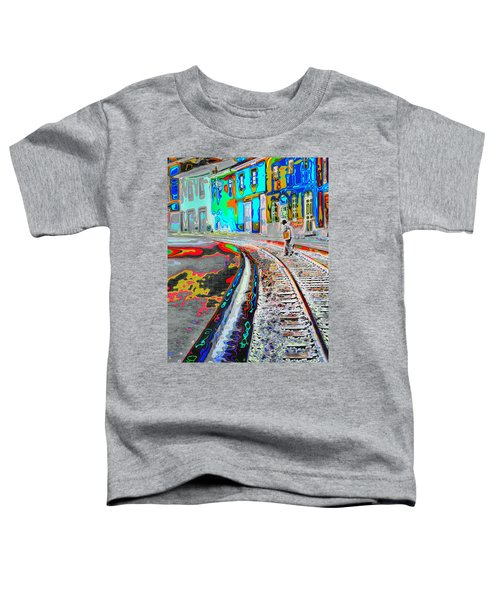 Crossing The Tracks Toddler T-Shirt