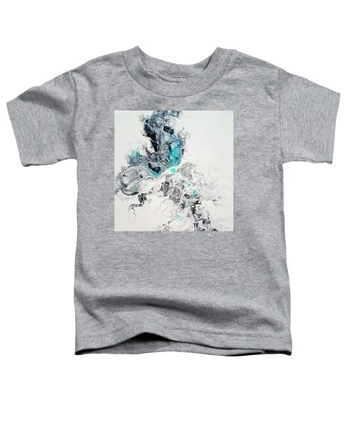 Toddler T-Shirt featuring the painting Crystals Of Ice by Joanne Smoley