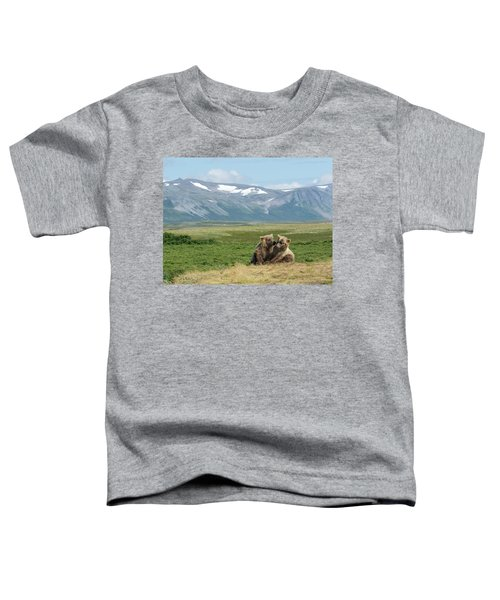Cubs Playing On The Bluff Toddler T-Shirt