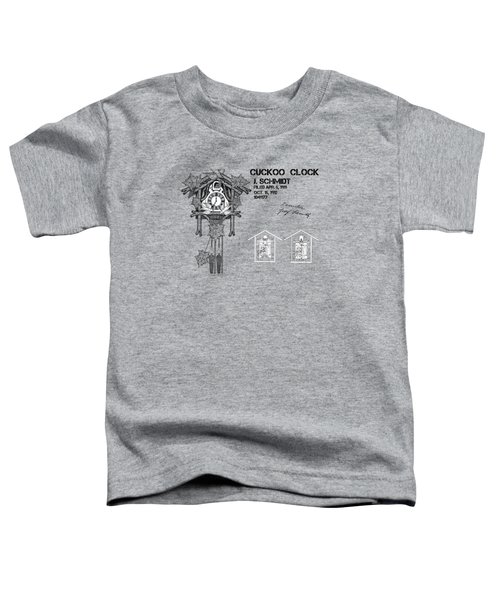 Cuckoo Clock Patent Art Toddler T-Shirt by Justyna JBJart