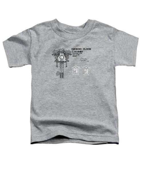 Cuckoo Clock Patent Art Toddler T-Shirt
