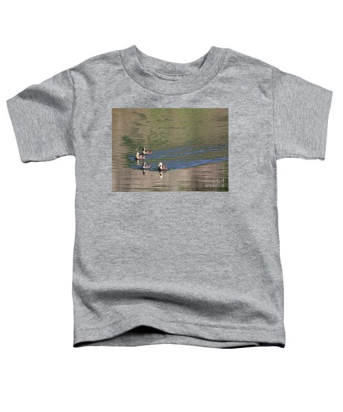Cute Ducks On The Pond Toddler T-Shirt