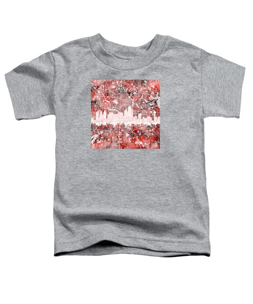Dallas Skyline Map Red 2 Toddler T-Shirt