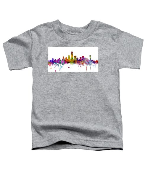 Dallas Texas Skyline Panoramic Toddler T-Shirt