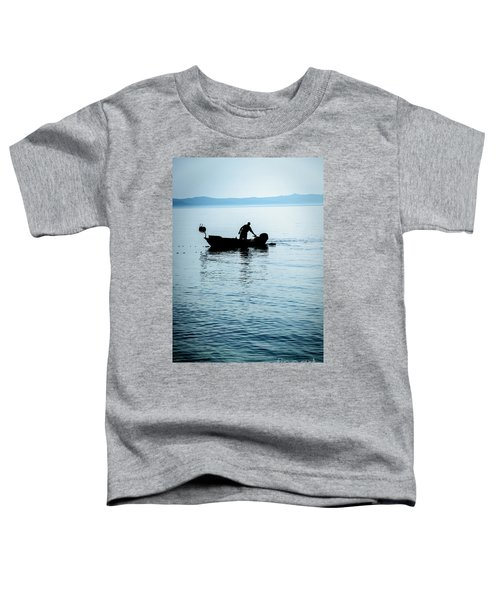 Dalmatian Coast Fisherman Silhouette, Croatia Toddler T-Shirt