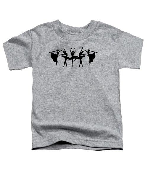 Dancing Ballerinas Silhouette Toddler T-Shirt