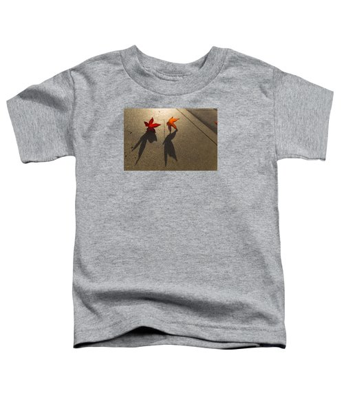 Toddler T-Shirt featuring the photograph Dancing Leaves by Lora Lee Chapman