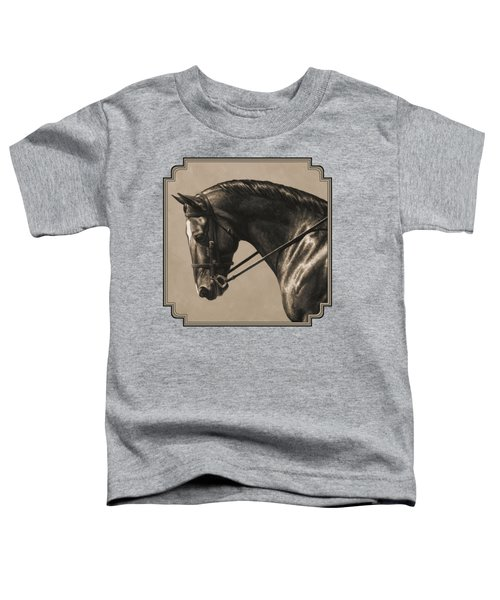 Dark Dressage Horse Aged Photo Fx Toddler T-Shirt