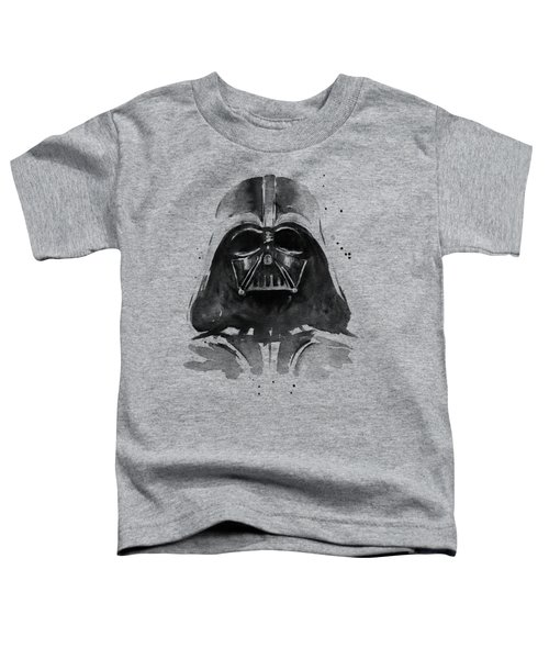 Darth Vader Watercolor Toddler T-Shirt by Olga Shvartsur