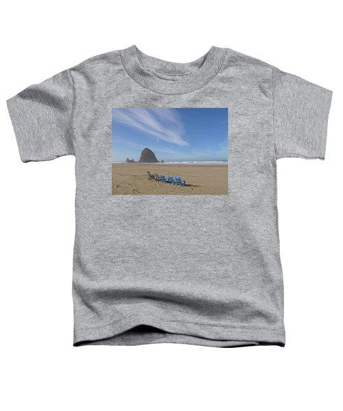 Day At Haystack Rock Toddler T-Shirt