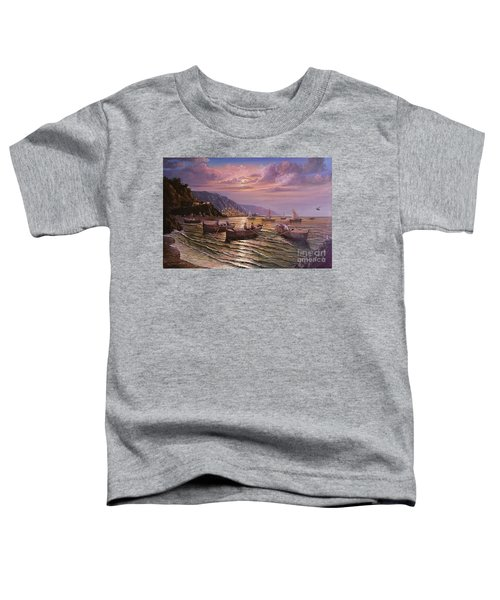 Day Ends On The Amalfi Coast Toddler T-Shirt