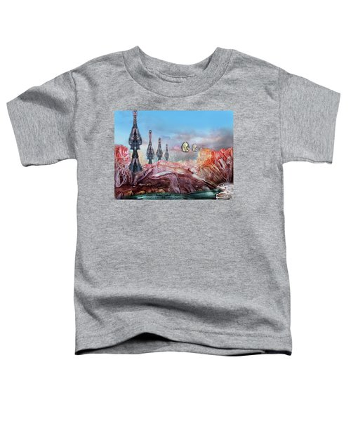 Decalcomaniac Transmission Towers Toddler T-Shirt